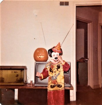 Halloween! 1973 not same Mickey costume I wore on Romper Room