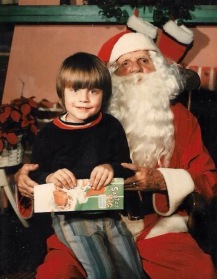 Barrett and Santa